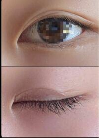 瞼が重い二重です。バレにくいアイプチってありますか? 下の写真目が開いていてもアイプチっぽいですか。
