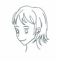 この絵に対して違和感やアドバイスなど教えてください。 個人的に見て欲しいのは首の位置、耳の位置、パーツごとの大きさと配置、顔(頭)の輪郭 ※髪の毛の質感や目の形自体は個性として捉えてほしいです^^; ※リア...
