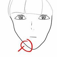 中一です、 何故か写真の通りの口から下にかけての顎の骨?が痛いです……触ってみたら骨が凸凹しているような、これってなんでしょう、?