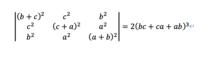 行列式の計算です. 以下の行列式の左辺と右辺が等しいことを証明してください.