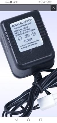 画像は電動エアガンバッテリー用のアダプターなのですが、もう手に入らない為、別のエアガン用のバッテリーで代用できないでしょうか?その場合、ボルトやアンペアなど注意する点はありますでし ょうか?代用が危...