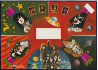 ステッカー,米国ロックバンド,LPレコード,kiss,シール,VIP-6395,封入ステッカー