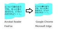 PDFフォントが変な形になります。 普段私はWEBブラウザとしてGoogleChromeを利用しています。 インターネット上のPDFファイルを閲覧しようとすると、 印章に使うような変わったフォントで表示されるものが多く...
