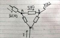 電流Iの値を求める問題なのですが外部から電流が流れ込むので解き方が分かりません。キルヒホッフで解くのでしょうか?