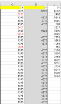 VBAで空白行の横にデータを上から順に転記する方法を教えて下さい。  J列に転記元データがあります。 D列の行が空白だったときにJ列の値を上から順にC列へ転記したいです。 ※添付ファイルの赤字のような感じで転記したいです。   よろしくお願いいたします。
