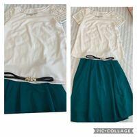このスカートにこのトップスはおかしいでしょうか? またトップスがデザイン性があるのにベルトはおかしいですか? ウエストが緩いのでベルトを付けたいのですがどうでしょうか? 大学生です