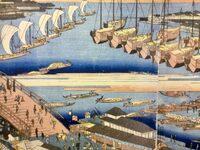 江戸時代の日本近海は帆船(千石船)だらけ? 三都(江戸・大阪・京)の合計人口を200万人と仮定した場合、年間のコメの消費量が200万石=30万t。  千石船=150t積載として、3都向けのコメの輸送だけで年間200...
