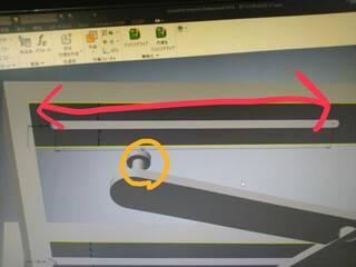 アセンブリ,しるし,スライド,切り欠き,部分,CAD,正接