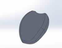 SOLIDWORKSで写真のパーツにスケッチを書いて押し出しカットで溝を入れたいのですが 曲面のスケッチがどうやるのかわかりません。 ご存じの方ご教示下さい、宜しくおねがいしますm(__)m