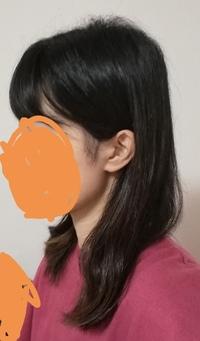 絶壁頭に悩んでいます。女性です。 画像のように、後頭部が尖りおでこにかけて斜面のように真っ直ぐなっています。 また、ハチも張っています。 このような頭の形をカバーする髪型はあります か?