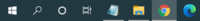 windows10のツールバーの違いについて  僕のは画像のようになっているのですが、人によっては開かれたタブが大きく、名前付きで表示されています。  なんの違いでしょうか。