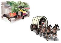 日本はいつ頃に、牛車から馬車に移り変わったのですか? 日本の室町時代や平安時代は、牛車というイメージがありますよね。  しかし、戦国時代になると騎馬や馬車というイメージに代わります。 これはどの時代に、どのようにして車を引かせるのが、牛から馬へ移っていったのでしょうか?  あと、馬車と比較した場合の、牛車のメリットデメリットも知りたいです。  歴史背景や理由をご存じの方がおられ...
