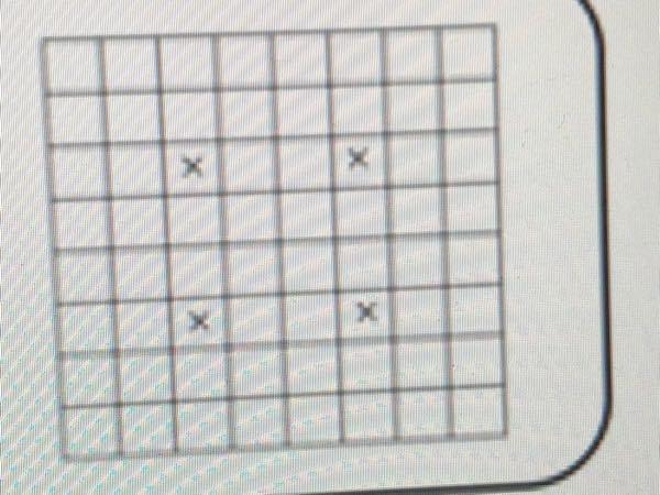 下の画像においてら×印のマス以外のどの1マスを取り除いても、1×3のタイルでは敷き詰められないことを証明せよ。 という問題が有るのですがどうやって証明するんでしょうか?