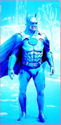 筋骨隆々とした筋骨たくましい筋肉質の強靭な肉体を持つヒーローバットマンの弱点はどこだと思われますか??
