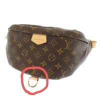 ルイヴィトンのバッグについて教えて下さい。ヴィトンのボディバッグの下の部分に付いている金具は何の為に付いているのでしょうか?この部分の使い方わかる方、教えて下さい。