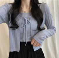 この洋服どこで売ってるかわかる方いませんか?  韓国 韓国ファッション サマーニット カーディガン
