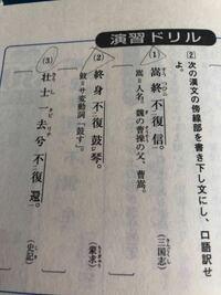 高校漢文の質問です。 2番の(2)の書き下し文の答えが復た琴を鼓せずなのですが、『を 』は絶対必要ですか?他の問題でも『は』とか『の 』が白文には書かれてなくて訳では書かれてるってことがあるので書くか書か...