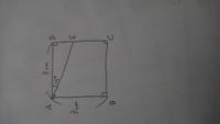 図の四角形ABCDは、1辺が3㎝の正方形です。 ∠DAE=15°のとき、四角形ABCEの面積は1辺が1㎝の正三角形の面積の何倍か?  ※画像が回転してしまっていて見にくくてすみません。  中学受験の問題です。 思い付い...