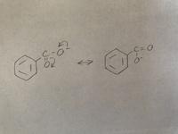 安息香酸アニオンの共鳴構造を4つかけという問題で2つはかけたのですが、あと2つが思い浮かびません。教えてください。お願いします。