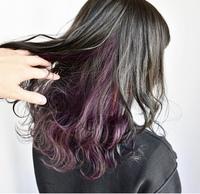 こんな感じの紫の色落ちはどんな色になりますか?ブリーチ必須ですよね? 後、色持ちはどのくらいか教えてください。カラーシャンプーは、使うつもりです。