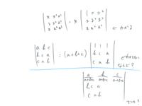 線形代数学の行列式についての質問です。  初学者の大学1年生です。行列式の因数分解が分からなくて質問しました!  画像の通りです。青線の部分について教えて下さい!