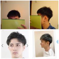 散髪失敗しました 上2枚の写真が自分なのですが、下2枚のような髪型にするには何ヵ月かかりますか? 1~2ヶ月でできますか?