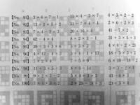 公務員試験の適性検査です。 画像の様な1桁の計算を暗算で早く解く方法について教えて頂きたいです。お願いします!!