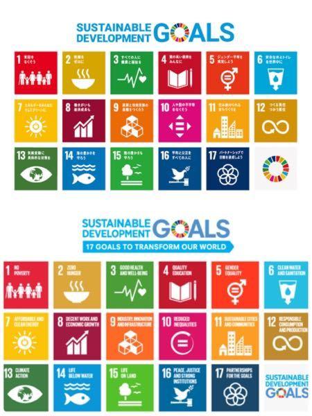 なぜSDGsの10番のロゴのデザインは国連で使われているものと日本で使われているもので違いがあるのですか? 上が日本で下が国連です
