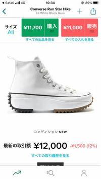 StockXでjw anderson converseのこの靴を買おうと思うんですけど関税などいくらになりますか?
