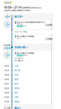 これは直江津駅から泊駅までずっと乗ってていいんですか? 泊駅で降りて富山までの切符を買えば良いのでしょうか 無知ですみませんが、教えて下さい
