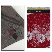 着物のコーディネート。 画像左の大島紬に、 右の半幅帯は合うでしょうか?  着物も帯もお花の種類を合わせると、 くどいのでしょうか…?  普通に赤い博多織の半幅にするか、迷っています。 ぜひアドバイスお願い...