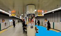 地下鉄を乗り間違えて反対方向に乗ってしまいました。図のようにホームを塗り分けたら間違えないです。 図では反対側ホームが青く塗られてます。  地下鉄のホームは進行方向別に塗り分けるべきですよね?