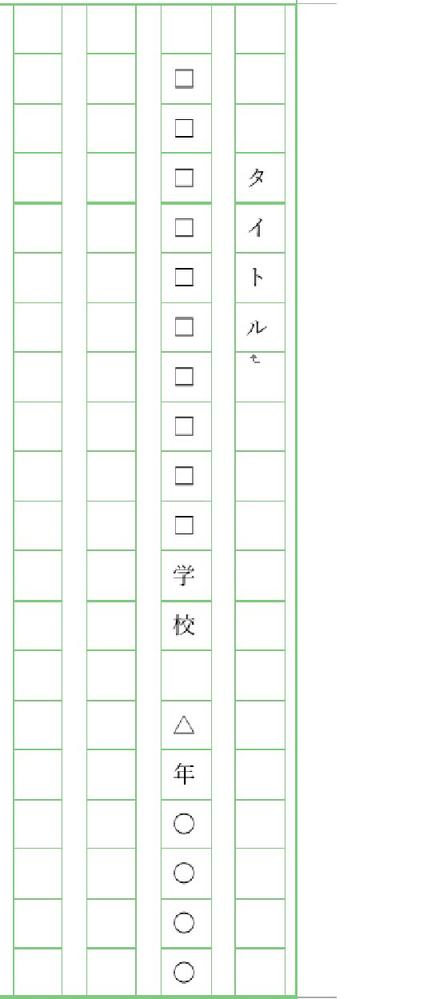 作文についての質問です! 名前を書くときにこように空白をつくることができなくなってしまいました。 この場合は二行目三行目で分けてスペースをつくって書くのと,このまま,どっちがいいでしょうか?