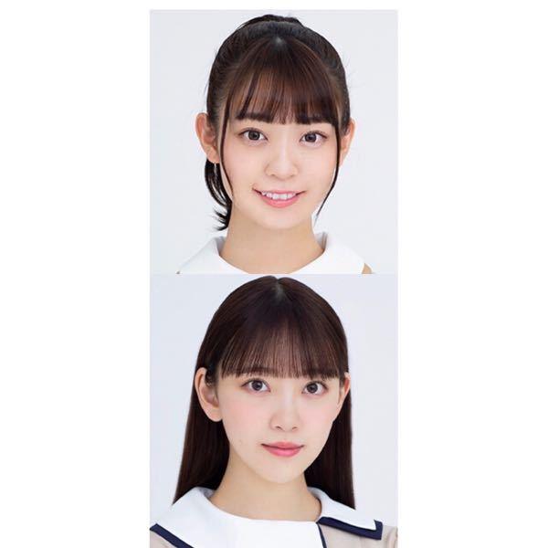 上:乃木坂46・阪口珠美ちゃん。 下:乃木坂46・堀未央奈ちゃん。 この2人は顔が似ていると思いますか?