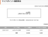 マイナポイント還元をauペイで設定しました。 2万円チャージで、マイナポイント5000Pとauから1000P合計6000Pなんじゃないんですか??  残りの1000Pは後日還元でしょうか?