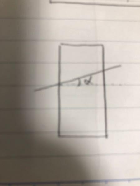 底面と断面のなす角がαになるように、断面積がSの円柱を切断したら、切断面の面積はどうなりますか?