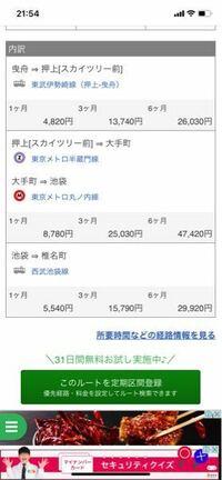 このような定期券が欲しい場合、 東武スカイツリーラインで、東京メトロで、西武池袋線で、この3社でそれぞれ定期を買わなきゃ行けないということですか?