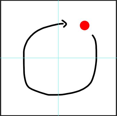 【photoshop】回転軸をカンバスの中心に指定したい(常に) 図のように、カンバスの中心を軸に、オブジェクトを回転させて増殖させたいのです。(例:幾何学模様を作る、など) 「変形⇒回転」で、...