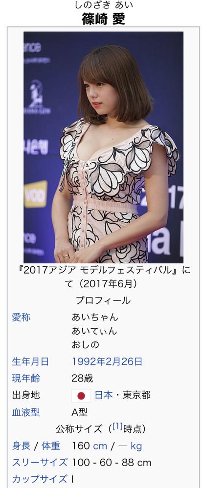 篠崎愛のカップサイズがIカップになってたんですが、本当なんでしょうか?以前はGカップだったんですが。