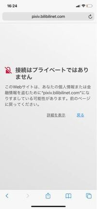 pixivについて。 pixivを検索してみていたら、へんな中国語で書かれたサイトを見つけたのです。 写真も載せておきます。 今回は、情報が流出せずに済んだのですが、前もこのようなことがあって、その時は普通にサ...