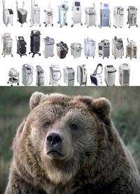 脱毛機って、クマのもっこもこの毛でも効果あるんでしょーか? ㅤ クマのニュース見ててふと思いました。 医療レーザー脱毛(•(ェ)•)