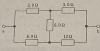 図のab間の合成抵抗の求め方を教えてください。答えは4Ωです。