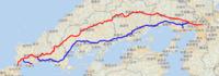 大阪と福岡の間の移動には中国自動車道と山陽自動車道の二通りのルートがありますが、どちらを利用されていますか?