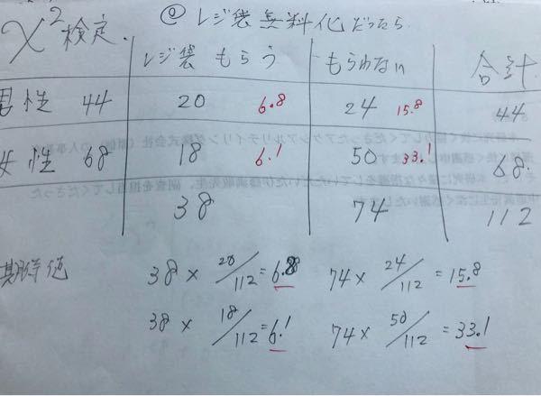 先生に期待値の出し方を教わったのですが、式が違う気がします。 一つ目は38×68/112ですよね…? 教えてくださると嬉しいです!