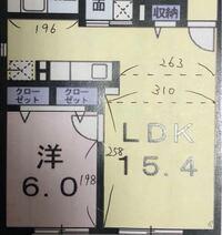15LDKのレイアウトについて相談させて下さい! 置きたいもの ・ダイニングテーブル(幅160cm奥行90 cm) ・ソファー幅(192cm奥行99 cm) ・テレビ(テレビスタンドで50インチのテレビ) 以上です。  ダイニングテーブ...