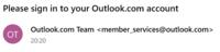 Outlookを初めて使う者です。 outlook.jpでメールを使おうとしているんですが、 登録してメールを送信すると「outlook.comアカウントでサインインしてください」と返ってきます。 outlook.jpでしかメアド作ってな...