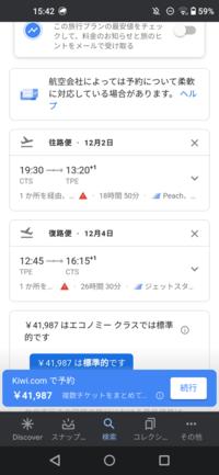 ここに書かれている出発時間や到着時間は全て日本時間ですか?