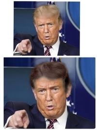 トランプ大統領、金髪と黒髪あなたはどちらが好き? 黒髪加工してみました!