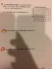 中学校 数学 規則性の問題です。 答えは⑴34 ⑵上から2行目 左から12列目 ⑶n二乗−n +1 なのですが、解き方がわかりません。教えてください!