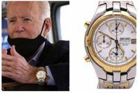 時計にお詳しい方に教えていただきたいです。 ただの興味本位ですが バイデン氏がオメガシーマスターを着用しているのも見ましたがセイコーの時計も着用しているようです。このセイコークロノグラフの型番を教えてください。大統領になる方が着用している時計に興味を持ちました。